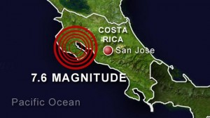 Powerful 7.6 Costa Rica earthquake