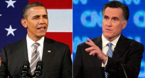 Presidential debate 2012: Romney and Obama